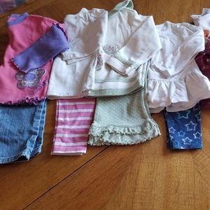 (7) Long sleeve shirts + pants 18m *bundle*